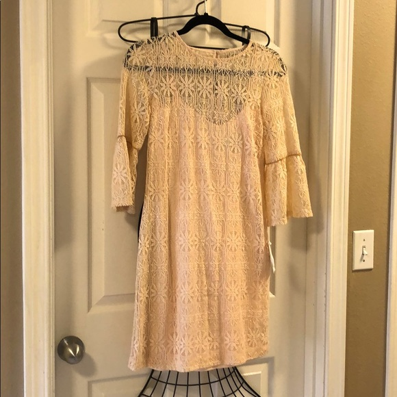 Blush colored Jessica Simpson dress.